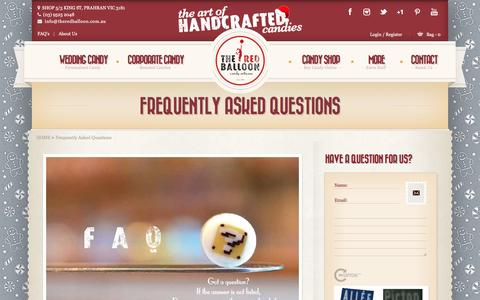 Screenshot of FAQ Page theredballoon.com.au - FAQs at The Red Balloon Candy Artisans - captured Dec. 1, 2016