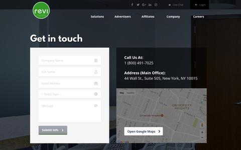 Screenshot of Contact Page revimedia.com - Revimedia  Contact Us - captured March 26, 2017
