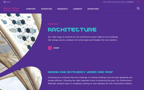 Screenshot of emdgroup.com - Architecture - Expertise | Merck KGaA, Darmstadt, Germany - captured June 18, 2017