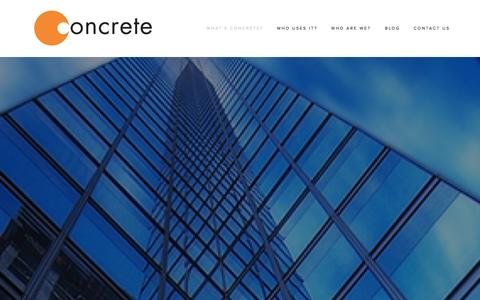 Screenshot of Home Page concrete.cc - Global enterprise collaboration | Concrete - captured Sept. 30, 2014