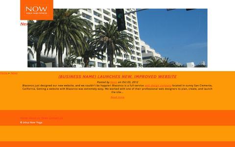 Screenshot of Press Page westsideyogari.com - News - Now Yoga - captured Oct. 7, 2014