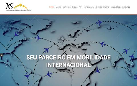 Screenshot of Home Page ksgmi.com.br - Ksgmi – Gerenciamento De Mobilidade Internacional Ltda - captured Oct. 16, 2017