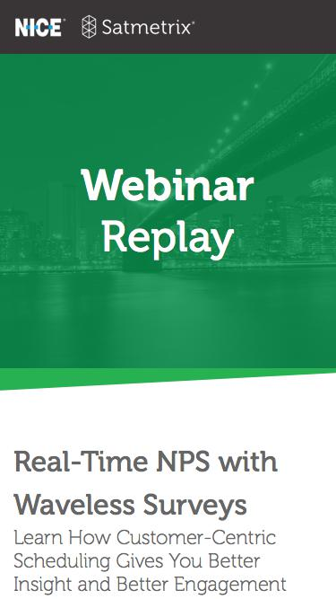 Webinar - Real-Time NPS with Waveless Surveys