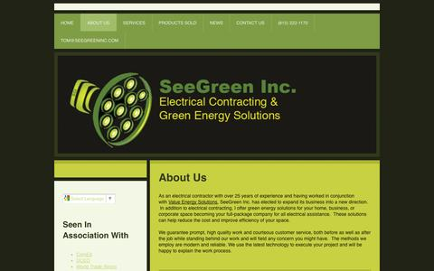 Screenshot of About Page seegreen-inc.com - About Us - SeeGreen Inc. - captured Sept. 30, 2014