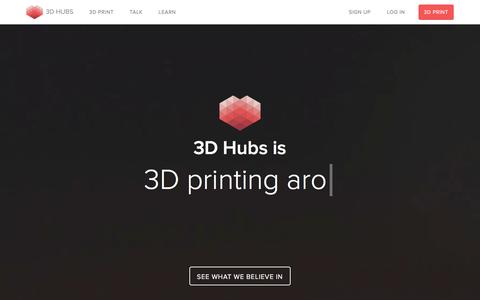Screenshot of About Page 3dhubs.com - About | 3D Hubs - captured Nov. 14, 2015