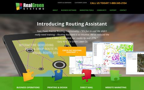 Screenshot of Home Page realgreen.com - Lawn Care Software & Marketing Services   Real Green Systems - captured June 17, 2015