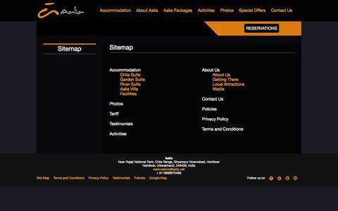 Screenshot of Site Map Page aalia.net - Sitemap - Aalia - captured Nov. 2, 2014
