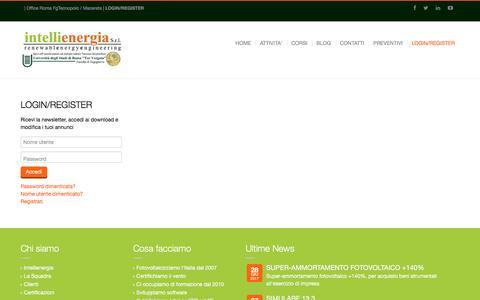 Screenshot of Login Page intellienergia.com - Intellienergia - Login - captured Oct. 15, 2017