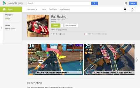 Screenshot of Android App Page google.com - Rail Racing - Android Apps on Google Play - captured Oct. 23, 2014