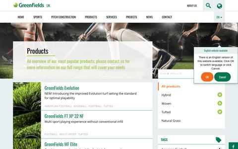 Screenshot of Products Page greenfields.eu - All products - GreenFields UK - captured Feb. 26, 2018