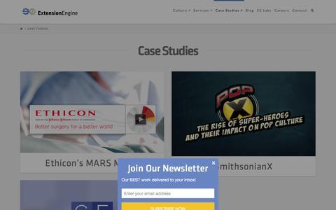 Screenshot of Case Studies Page extensionengine.com - Case Studies - ExtensionEngine - captured Dec. 13, 2015