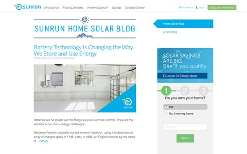 Screenshot of Blog Press Page sunrun.com - Solar Blog | Sunrun - captured Feb. 19, 2018