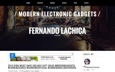 Screenshot of Home Page modern-electronic-gadgets.blogspot.com - Modern Electronic Gadgets - captured Jan. 18, 2016