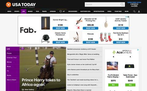 Screenshot of Team Page usatoday.com - Celebrity Photos, Videos and Interviews - USATODAY.com - captured Dec. 1, 2015