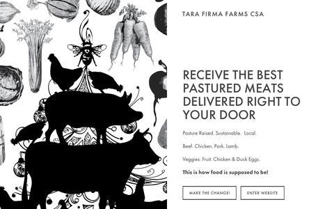 Screenshot of Home Page tarafirmafarms.com - TARA FIRMA FARMS - captured Dec. 20, 2016