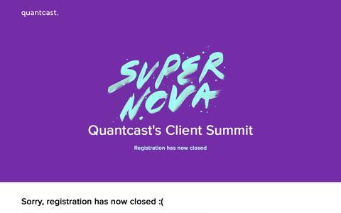 Screenshot of Landing Page quantcast.com - Supernova EMEA 2016 | 18 November | London - captured Dec. 1, 2016