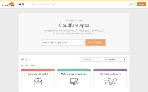 Apps - Cloudflare Apps