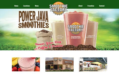 Screenshot of Home Page smoothiefactory.com - Smoothie Factory | A smoothie bar and nutrition supplement franchise company - captured Nov. 17, 2017