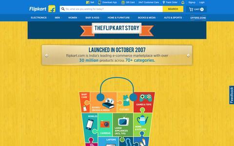 Screenshot of About Page flipkart.com - Flipkart.com - captured Dec. 2, 2015
