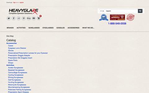 Screenshot of Site Map Page heavyglare.com - Heavyglare HTML Sitemap - captured Nov. 5, 2016