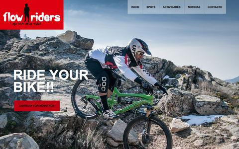 Screenshot of Home Page flowriders.es - Flow Riders MTB | Flow Riders – go out and ride! - captured Sept. 30, 2014