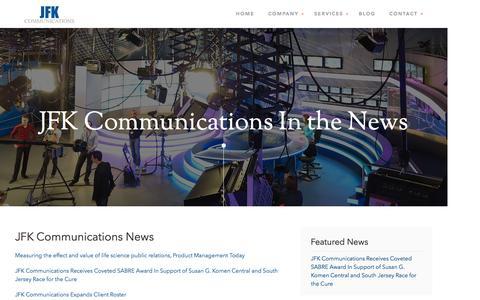 Screenshot of Press Page jfkhealth.com - Press Releases - captured Nov. 18, 2016