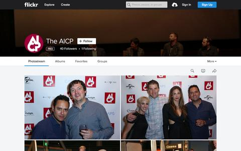 Screenshot of Flickr Page flickr.com - The AICP | Flickr - Photo Sharing! - captured Nov. 13, 2015