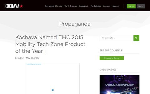 Kochava Named TMC 2015 Mobility Tech Zone Product of the Year |