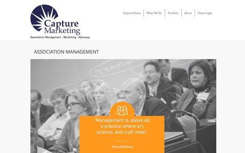 Screenshot of Team Page capturemarketinggroup.com - Association Management and Event Services - captured July 11, 2016