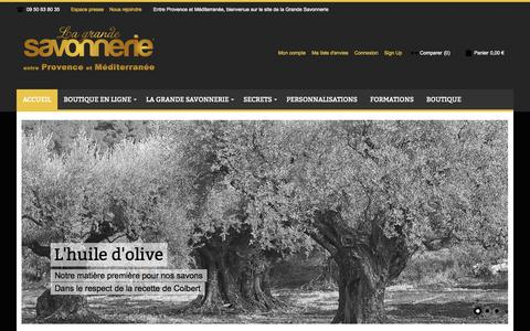 Screenshot of Menu Page lagrandesavonnerie.fr - Accueil - captured Oct. 28, 2014