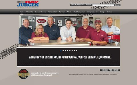 Screenshot of Home Page rayjurgen.com - Ray-Jurgen Company - captured Oct. 9, 2014