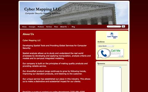 Screenshot of About Page cybermapping.net - About Us | Cyber Mapping LLC - captured Oct. 3, 2014