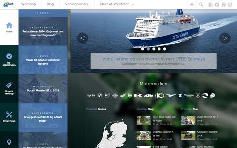 Screenshot of Home Page anwbmotor.nl - Nieuws, blogs en motortests | ANWB Motor - captured Sept. 23, 2014