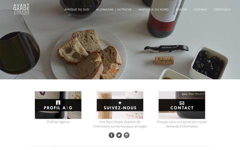 Screenshot of Home Page agvs.ca - Avant-Garde vins et alcools fins - Page d'accueil - captured Oct. 9, 2017