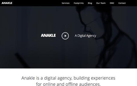 Screenshot of Home Page anakle.com - Anakle | A digital marketing agency - captured Feb. 6, 2016