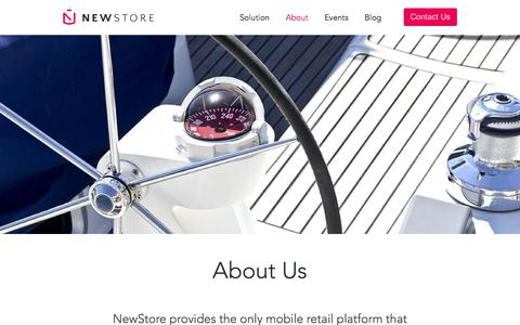 Screenshot of About Page newstore.com - Retail Commerce Team | NewStore - captured Feb. 10, 2016