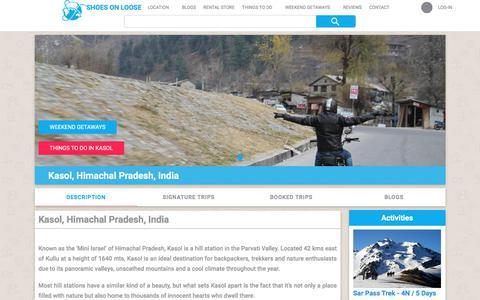 Screenshot of shoesonloose.com - Kasol, Himachal Pradesh, India-Shoesonloose - captured Aug. 6, 2017