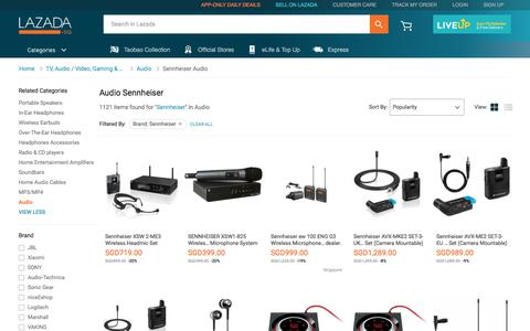 Latest Sennheiser Audio Products | Enjoy Huge Discounts | Lazada SG