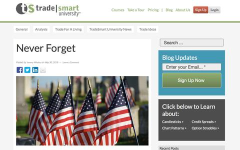 Screenshot of Blog tradesmartu.com - Remember the fallen soldiers who gave their life for our freedom - captured Oct. 27, 2016