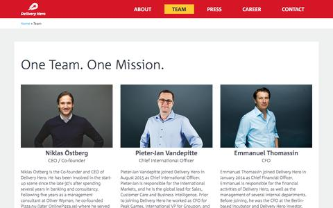 Delivery Hero – Team