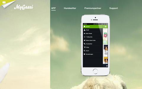 Screenshot of Home Page mygassi.com - MyGassi - Die Spürnase für`s Handy - captured Oct. 8, 2014