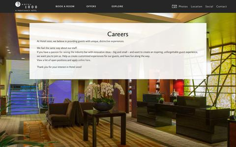 Screenshot of Jobs Page hotel1000seattle.com - Careers | Hotel 1000 - captured Oct. 31, 2014