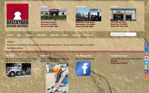 Screenshot of Site Map Page thebrickyard.com - Sitemap - The Brickyard - captured Oct. 5, 2014
