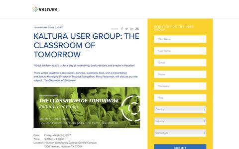 Screenshot of Landing Page kaltura.com - Kaltura Video Platform - captured March 9, 2017