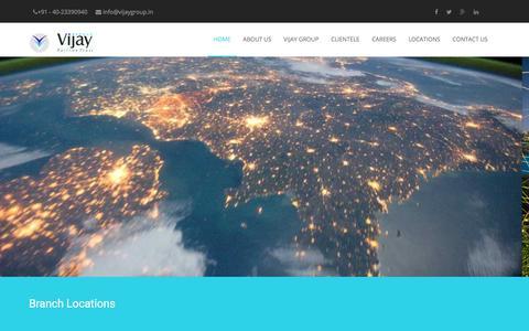 Screenshot of Locations Page vijaygroup.in - Vijay Group - captured Sept. 21, 2018