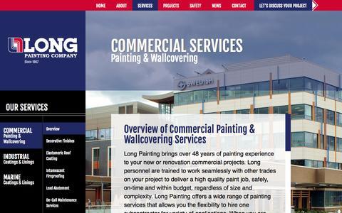 Screenshot of Services Page longpainting.com - Long Painting  Commercial Archives - Long Painting - captured Oct. 3, 2014
