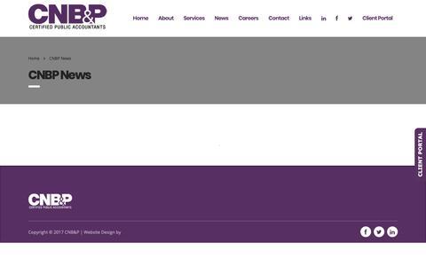 Screenshot of Press Page cnbpcpas.com - CNBP Certified Public Accountants | Philadelphia | News - captured Sept. 26, 2018