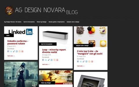 Screenshot of Blog ag-design.it - AG-Design Blog - captured Oct. 4, 2014