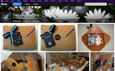Screenshot of Flickr Page flickr.com - Flickr: cocooncreations' Photostream - captured Oct. 22, 2014