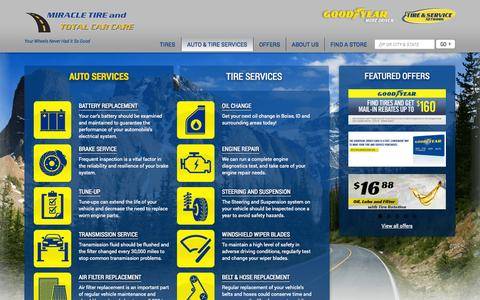 Screenshot of Services Page miracletire.com - Auto Repair Services in Boise, ID | Miracle Tire and Total Car Care - captured Oct. 7, 2014